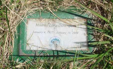 MILLER DAVENPORT, MILDRED LORA - Linn County, Oregon   MILDRED LORA MILLER DAVENPORT - Oregon Gravestone Photos