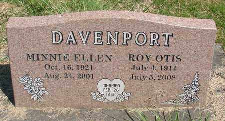 DAVENPORT, MINNIE ELLEN - Linn County, Oregon | MINNIE ELLEN DAVENPORT - Oregon Gravestone Photos