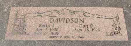 DAVIDSON, DON D - Linn County, Oregon | DON D DAVIDSON - Oregon Gravestone Photos