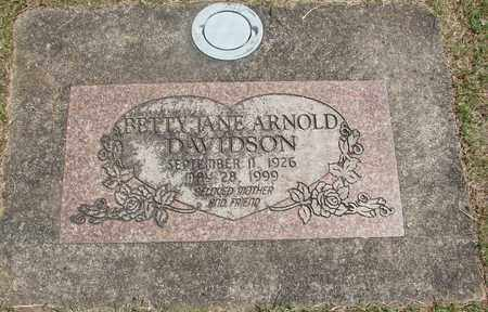 ARNOLD DAVIDSON, BETTY JANE - Linn County, Oregon | BETTY JANE ARNOLD DAVIDSON - Oregon Gravestone Photos