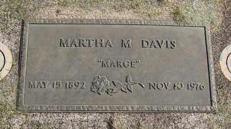DAVIS, MARTHA M - Linn County, Oregon | MARTHA M DAVIS - Oregon Gravestone Photos