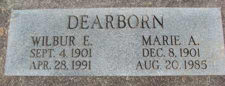 DEARBORN, WILBUR ETHBERT - Linn County, Oregon | WILBUR ETHBERT DEARBORN - Oregon Gravestone Photos