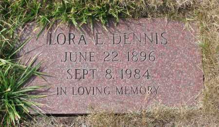 DENNIS, LORA E - Linn County, Oregon   LORA E DENNIS - Oregon Gravestone Photos