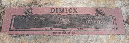 DIMICK, EMMY E - Linn County, Oregon | EMMY E DIMICK - Oregon Gravestone Photos
