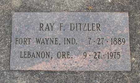 DITZLER, RAY F - Linn County, Oregon   RAY F DITZLER - Oregon Gravestone Photos