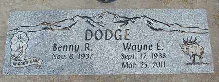 DODGE, BENNY R - Linn County, Oregon | BENNY R DODGE - Oregon Gravestone Photos
