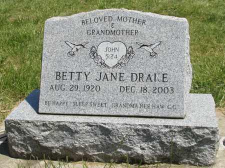 MOSS DRAKE, BETTY JANE - Linn County, Oregon | BETTY JANE MOSS DRAKE - Oregon Gravestone Photos