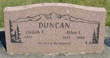 DUNCAN, CLEDITH T - Linn County, Oregon | CLEDITH T DUNCAN - Oregon Gravestone Photos