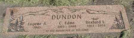 BUCHANAN DUNDON, CORA EDNA - Linn County, Oregon | CORA EDNA BUCHANAN DUNDON - Oregon Gravestone Photos
