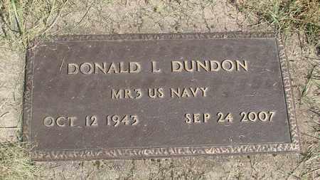 DUNDON, DONALD LEROY - Linn County, Oregon   DONALD LEROY DUNDON - Oregon Gravestone Photos