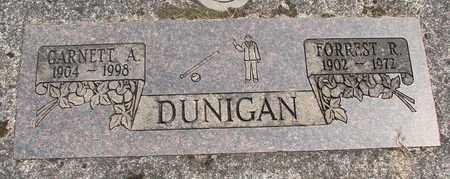 DUNIGAN, FORREST R - Linn County, Oregon | FORREST R DUNIGAN - Oregon Gravestone Photos