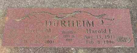 DURHEIM, HAROLD JAMES - Linn County, Oregon | HAROLD JAMES DURHEIM - Oregon Gravestone Photos