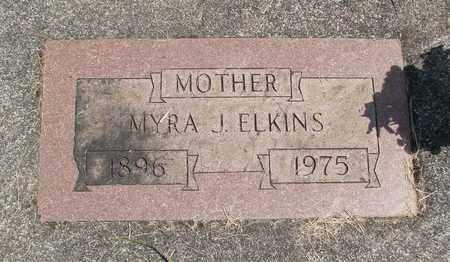 ELKINS, MYRA J - Linn County, Oregon | MYRA J ELKINS - Oregon Gravestone Photos