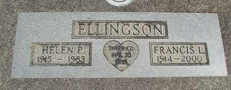 ELLINGSON, FRANCIS L - Linn County, Oregon | FRANCIS L ELLINGSON - Oregon Gravestone Photos