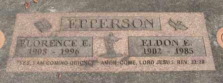EPPERSON, FLORENCE E - Linn County, Oregon | FLORENCE E EPPERSON - Oregon Gravestone Photos