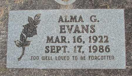 EVANS, ALMA G - Linn County, Oregon | ALMA G EVANS - Oregon Gravestone Photos