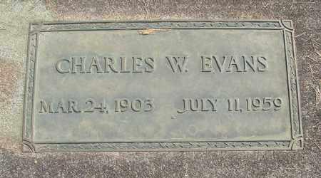 EVANS, CHARLES W - Linn County, Oregon | CHARLES W EVANS - Oregon Gravestone Photos