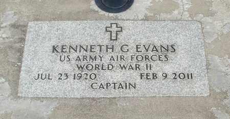 EVANS, KENNETH G - Linn County, Oregon | KENNETH G EVANS - Oregon Gravestone Photos