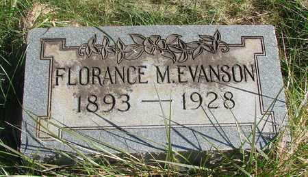 EVANSON, FLORANCE MARGARET - Linn County, Oregon   FLORANCE MARGARET EVANSON - Oregon Gravestone Photos