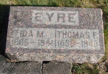 EYRE, THOMAS F - Linn County, Oregon | THOMAS F EYRE - Oregon Gravestone Photos