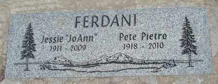 FERDANI, PETE PIETRO - Linn County, Oregon | PETE PIETRO FERDANI - Oregon Gravestone Photos