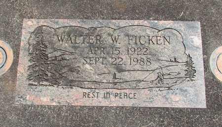 FICKEN, WALTER WAYNE - Linn County, Oregon | WALTER WAYNE FICKEN - Oregon Gravestone Photos