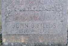 FIELDS, JOHN B. - Linn County, Oregon   JOHN B. FIELDS - Oregon Gravestone Photos