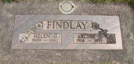 FINDLAY, ARCHIE F - Linn County, Oregon | ARCHIE F FINDLAY - Oregon Gravestone Photos