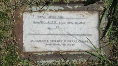 FORD, THOMAS GEORGE - Linn County, Oregon | THOMAS GEORGE FORD - Oregon Gravestone Photos