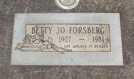 FORSBERG, BETTY JO - Linn County, Oregon   BETTY JO FORSBERG - Oregon Gravestone Photos