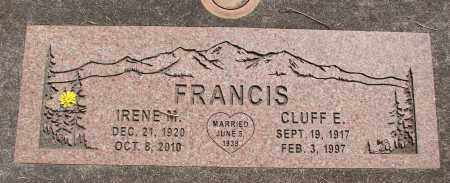 FRANCIS, CLUFF E - Linn County, Oregon | CLUFF E FRANCIS - Oregon Gravestone Photos