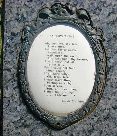 FRANKLIN, SARAH ELIZABETH - Linn County, Oregon   SARAH ELIZABETH FRANKLIN - Oregon Gravestone Photos