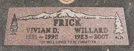 NIELSEN FRICK, VIVIAN D - Linn County, Oregon   VIVIAN D NIELSEN FRICK - Oregon Gravestone Photos