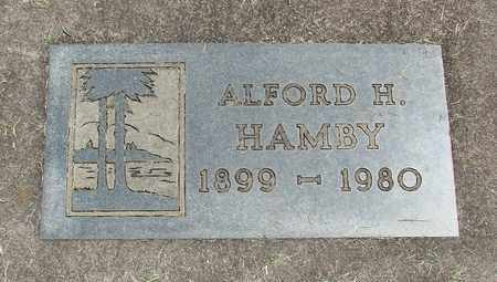 HAMBY, ALFORD H - Linn County, Oregon | ALFORD H HAMBY - Oregon Gravestone Photos