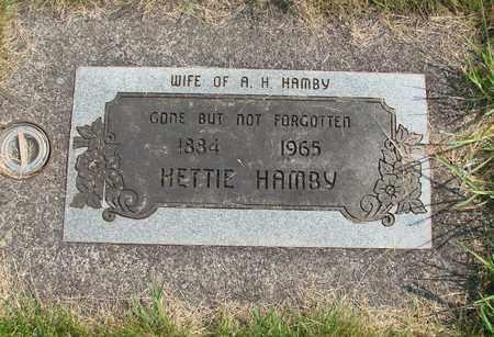 HAMBY, HETTIE - Linn County, Oregon | HETTIE HAMBY - Oregon Gravestone Photos