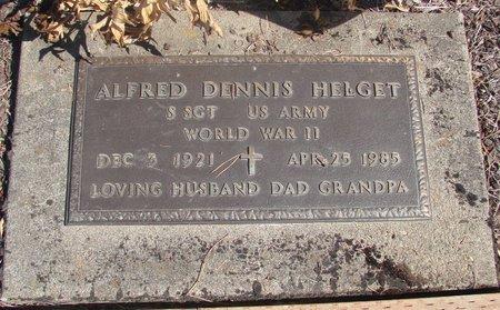 HELGET, ALFRED DENNIS - Linn County, Oregon | ALFRED DENNIS HELGET - Oregon Gravestone Photos