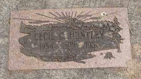 HUNTLEY, CECIL C - Linn County, Oregon | CECIL C HUNTLEY - Oregon Gravestone Photos