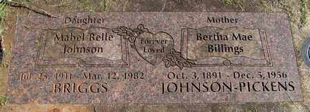 JOHNSON BRIGGS, MABEL BELLE - Linn County, Oregon | MABEL BELLE JOHNSON BRIGGS - Oregon Gravestone Photos