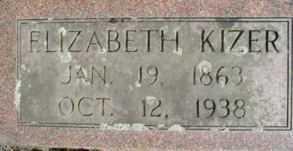 KIZER, ELIZABETH - Linn County, Oregon | ELIZABETH KIZER - Oregon Gravestone Photos