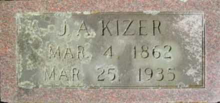 KIZER, J.A. - Linn County, Oregon | J.A. KIZER - Oregon Gravestone Photos