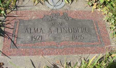 LINDBERG, ALMA A - Linn County, Oregon | ALMA A LINDBERG - Oregon Gravestone Photos