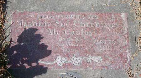 CHRONISTER MCCANLAS, JEANNIE SUE - Linn County, Oregon | JEANNIE SUE CHRONISTER MCCANLAS - Oregon Gravestone Photos