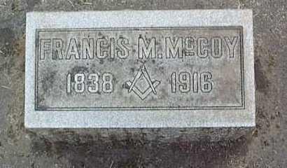 MCCOY (CW), FRANCIS MARION - Linn County, Oregon   FRANCIS MARION MCCOY (CW) - Oregon Gravestone Photos