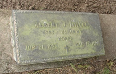 MILLER, ALBERT JUNIOR - Linn County, Oregon | ALBERT JUNIOR MILLER - Oregon Gravestone Photos