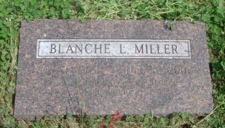 MILLER, BLANCHE LILY - Linn County, Oregon | BLANCHE LILY MILLER - Oregon Gravestone Photos