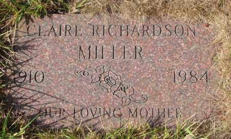 MILLER, CLAIRE - Linn County, Oregon   CLAIRE MILLER - Oregon Gravestone Photos