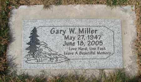MILLER, GARY W - Linn County, Oregon   GARY W MILLER - Oregon Gravestone Photos