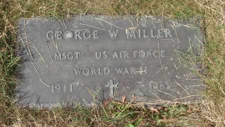 MILLER, GEORGE W - Linn County, Oregon   GEORGE W MILLER - Oregon Gravestone Photos