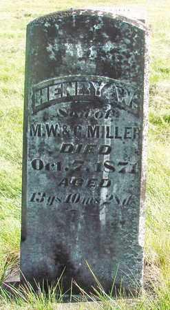 MILLER, HENRY W - Linn County, Oregon | HENRY W MILLER - Oregon Gravestone Photos