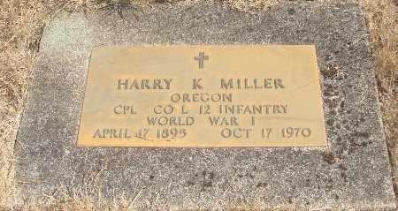 MILLER, HARRY K - Linn County, Oregon | HARRY K MILLER - Oregon Gravestone Photos